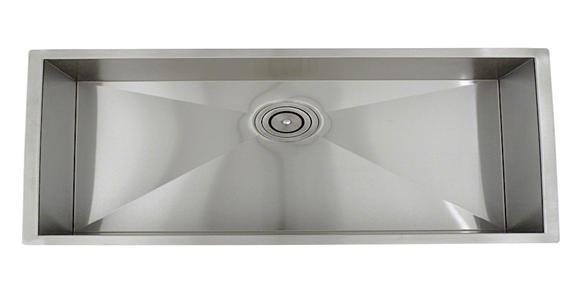16 Gauge Stainless Steel Undermount Sink With Modern 90 Degree Corners.  Measures 32u201dx10u201d, To Be Used With A 33u201d Sink Base Cabinet.
